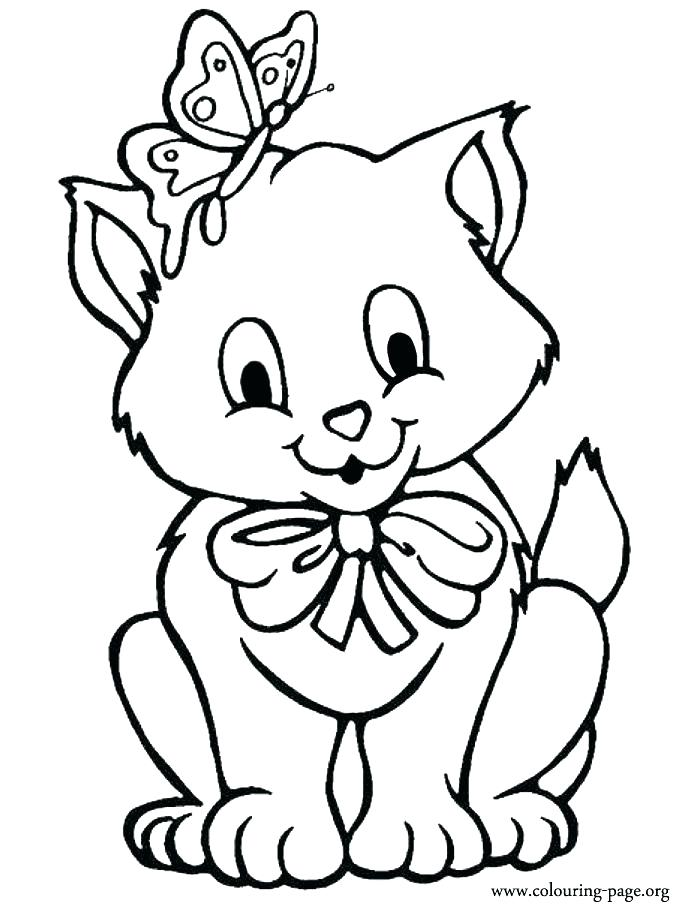 700x912 Kitten Color Pages Kittens Coloring Pages As Well As Pin Drawn