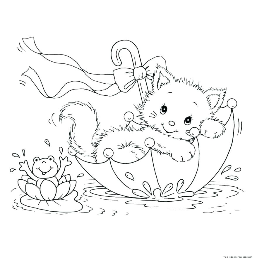 Free Printable Kitten Coloring Pages At Getdrawings Com Free For