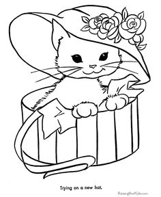 236x288 Coloring Sheets, Kitten Coloring Page, Cats And Kittens Pets