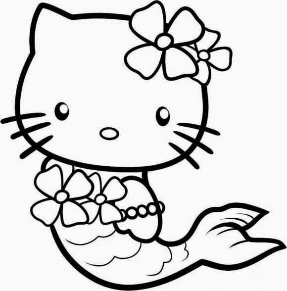Free Printable Kitty Coloring Pages
