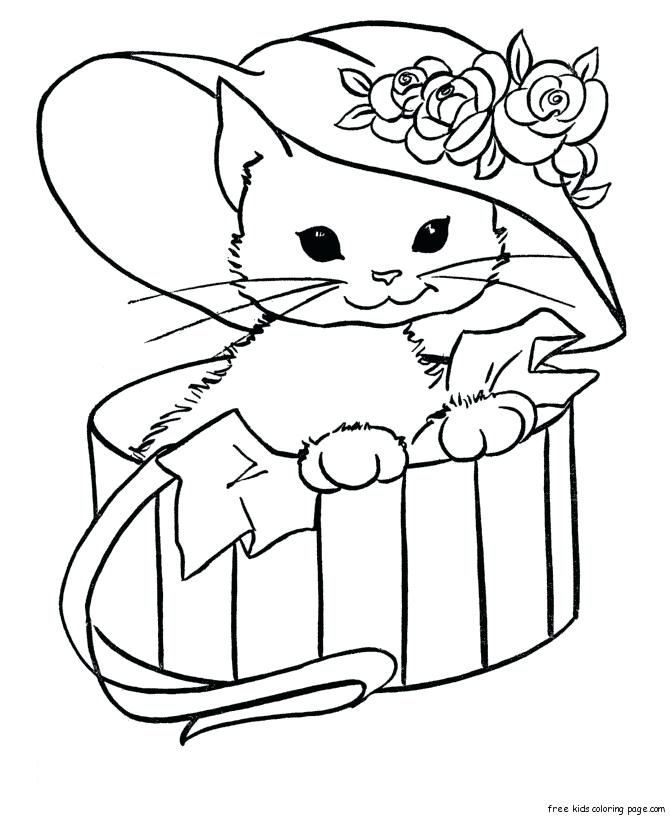 670x820 Kitty Color Pages Hello Kitty Coloring Pages Free Printable Kitty