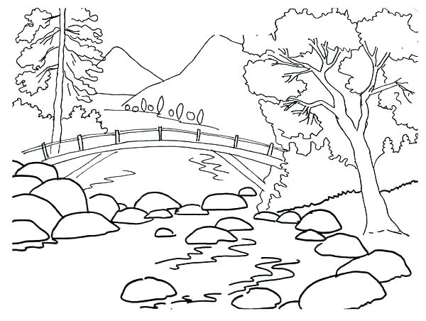 600x452 Coloring Pages Mountains Coloring Pages Of Mountains Mountains
