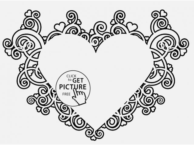 640x480 Grown Up Coloring Pages Hearts Photo Free Printable Love Coloring