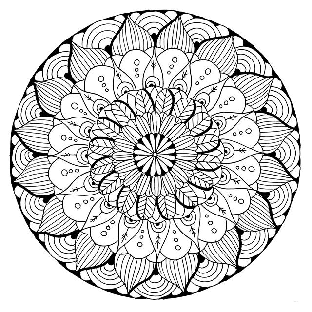 Free Printable Mandala Coloring Pages at GetDrawings com | Free for