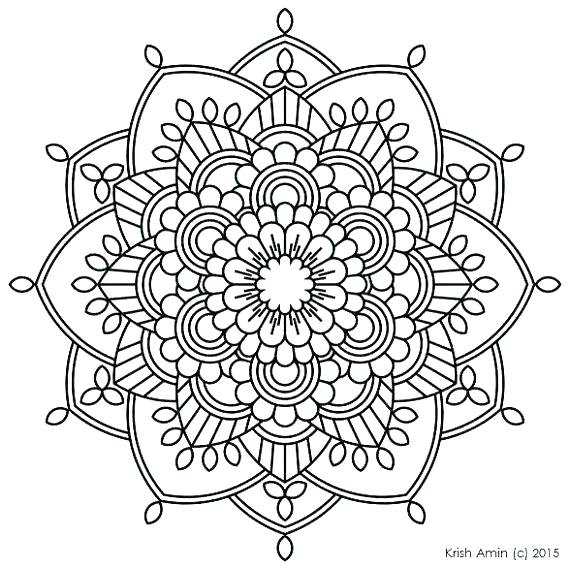 570x569 Free Printable Mandalas Coloring Pages Coloring Mandalas For Kids