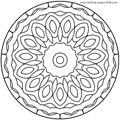 480x480 Coloring Pages Animal Mandala