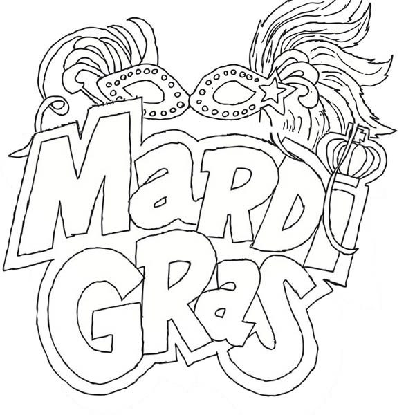 600x600 Mardi Gras Colouring Pages Fancy Mardi Gras Coloring Pages