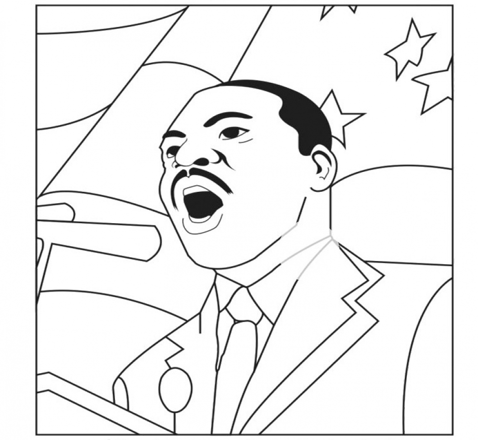 Free Printable Martin Luther King Coloring Pages