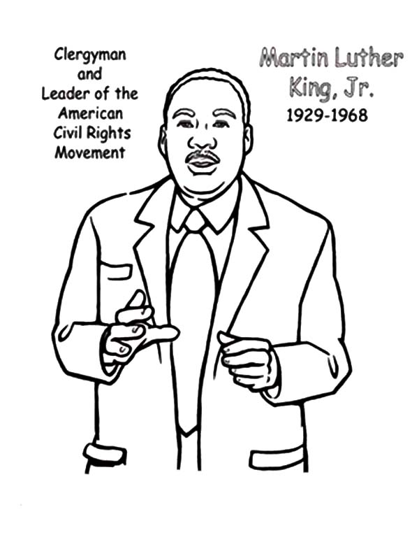 Free Printable Martin Luther King Coloring Pages at ...