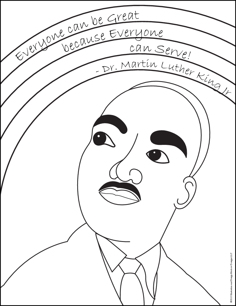 Free Printable Martin Luther King Coloring Pages At Getdrawings Com