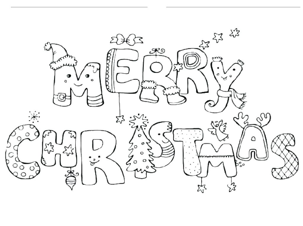 1024x762 Merry Christmas Coloring Page Merry And Bright Coloring Page Merry