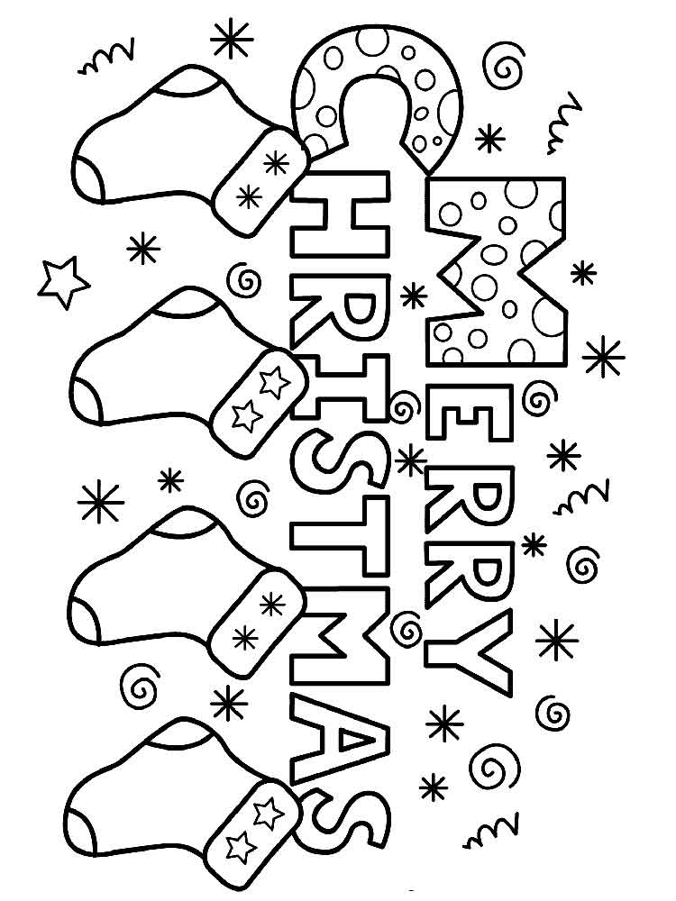 750x1000 Merry Christmas Coloring Pages Free Printable Merry Christmas