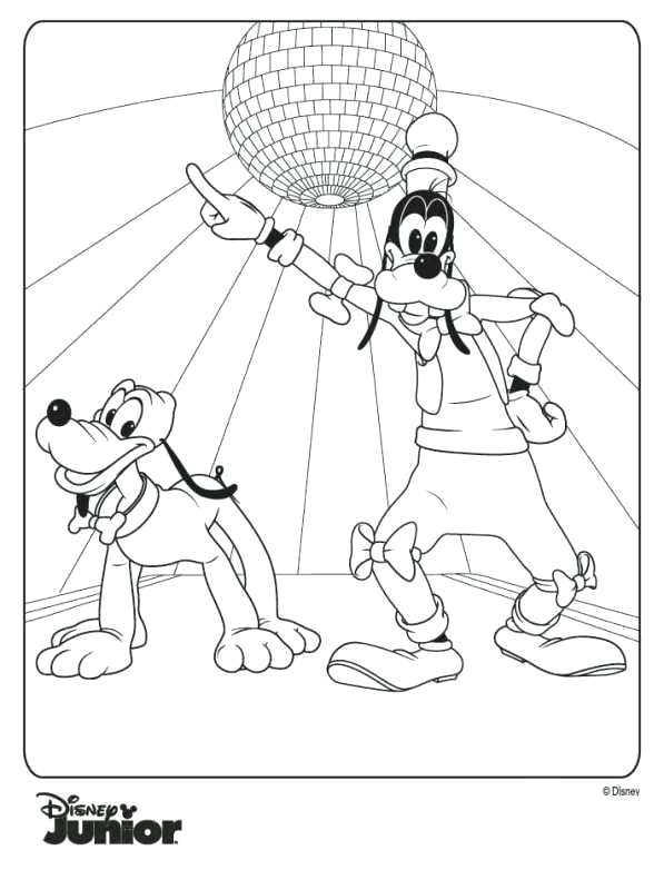 597x782 Mickey Mouse Clubhouse Coloring Pages Free Goofy And Free