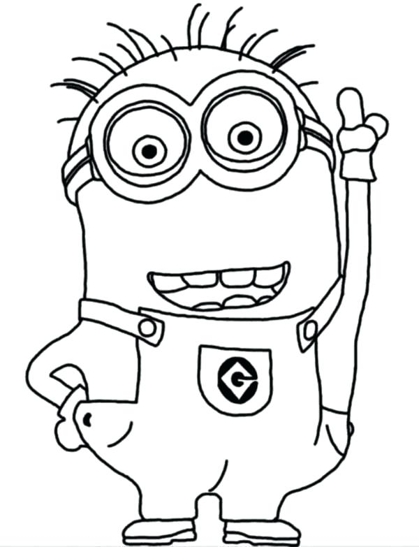 Free Printable Minion Coloring Pages At Getdrawingscom Free For