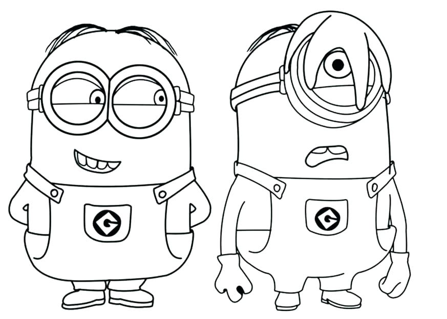 873x623 Minion Coloring Pages Minion Coloring Pages Minion Bob Printable