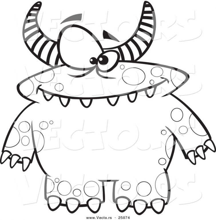 755x770 Monsters Coloring Pages Printable Devans Monster Bday Party