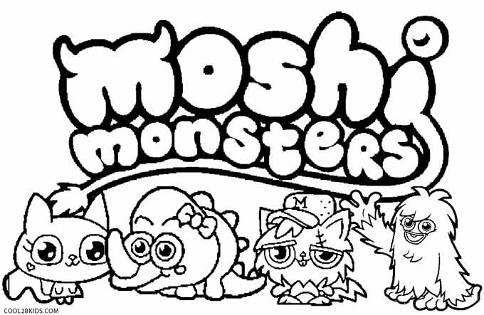 680x443 Printable Moshi Monsters Coloring Pages For Kids