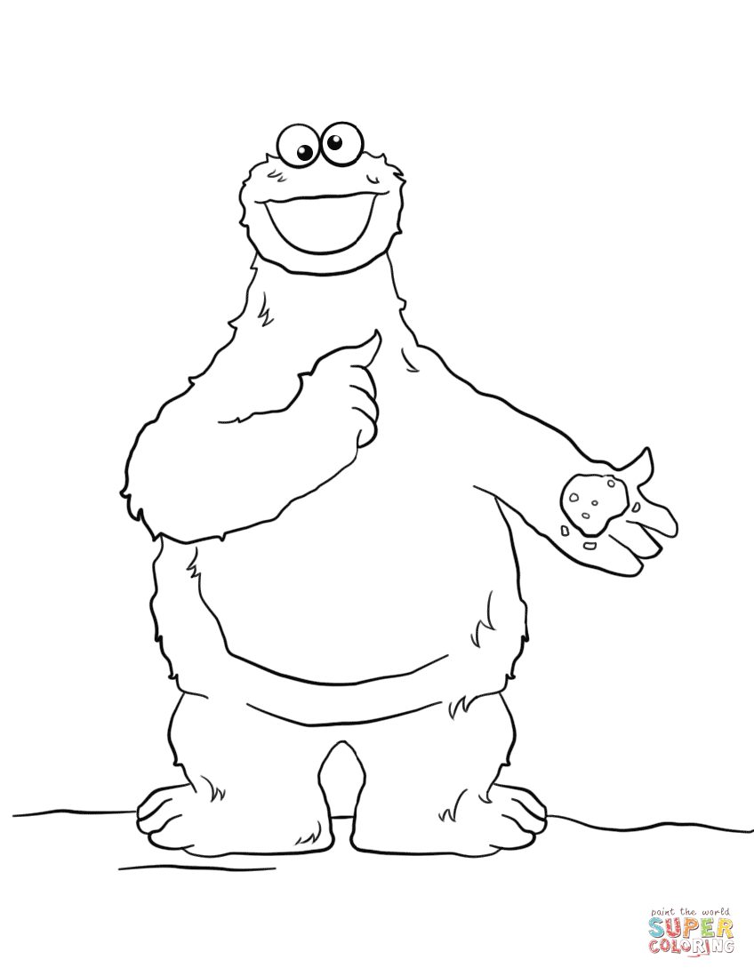 848x1098 Cookie Monster Coloring Page Free Printable Coloring Pages Cookie