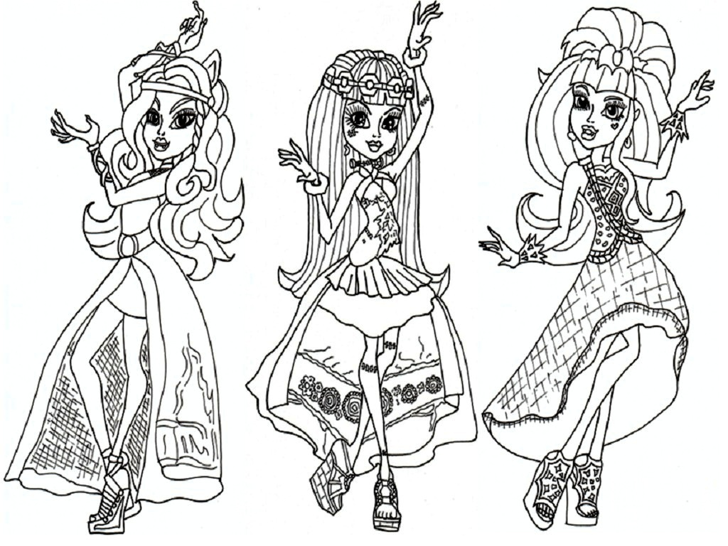 1024x768 Girl Vs Monster Coloring Pages Free