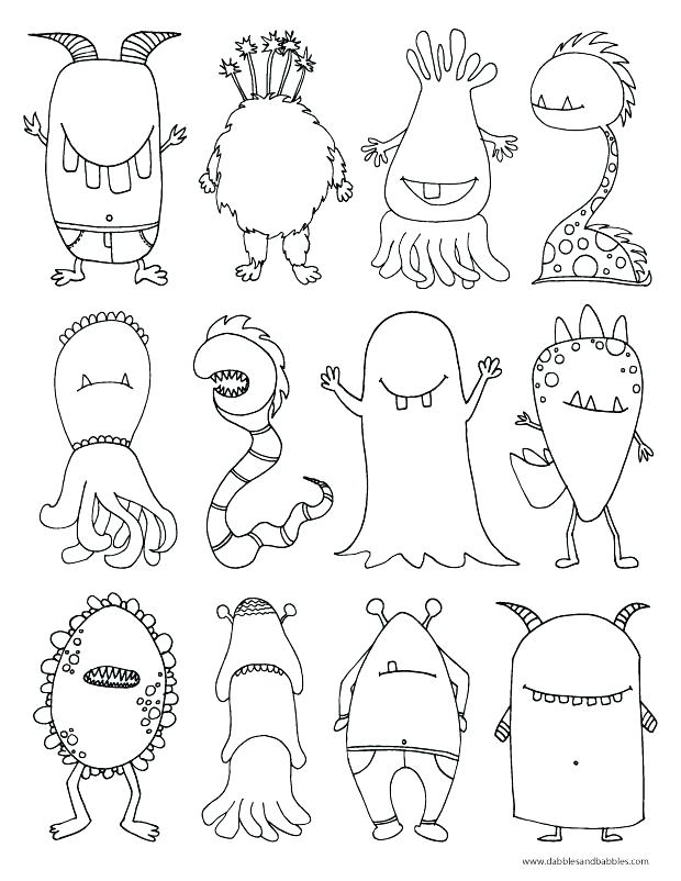 620x802 Monster Coloring Pages Printable Monster Coloring Pages Monster