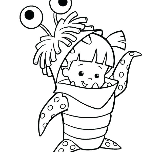 640x600 Monster Coloring Pages