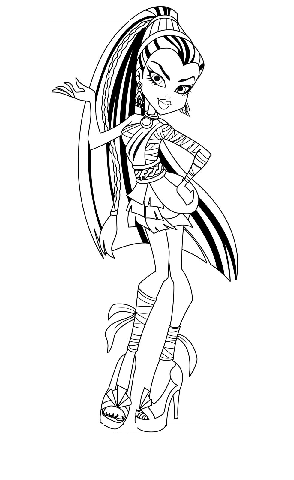 980x1600 Free Printable Monster High Coloring Pages For Kids Molde