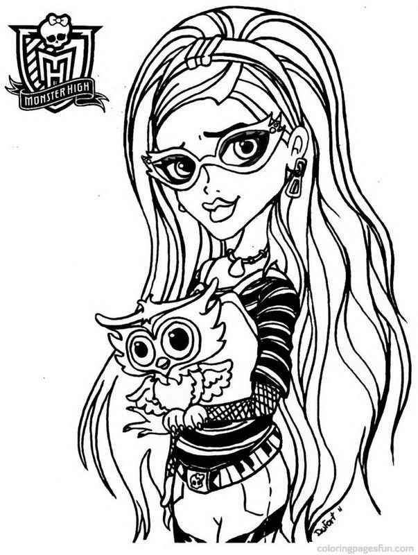 603x800 Monster High Coloring Pages Free Printable To Print Out