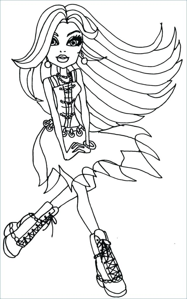 640x1024 Monster High Frankie Coloring Pages Stein Monster High Coloring