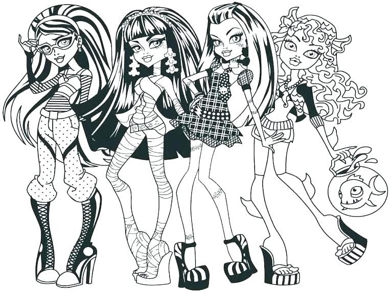 765x574 Monster High Printable Coloring Pages Free Monster High Coloring