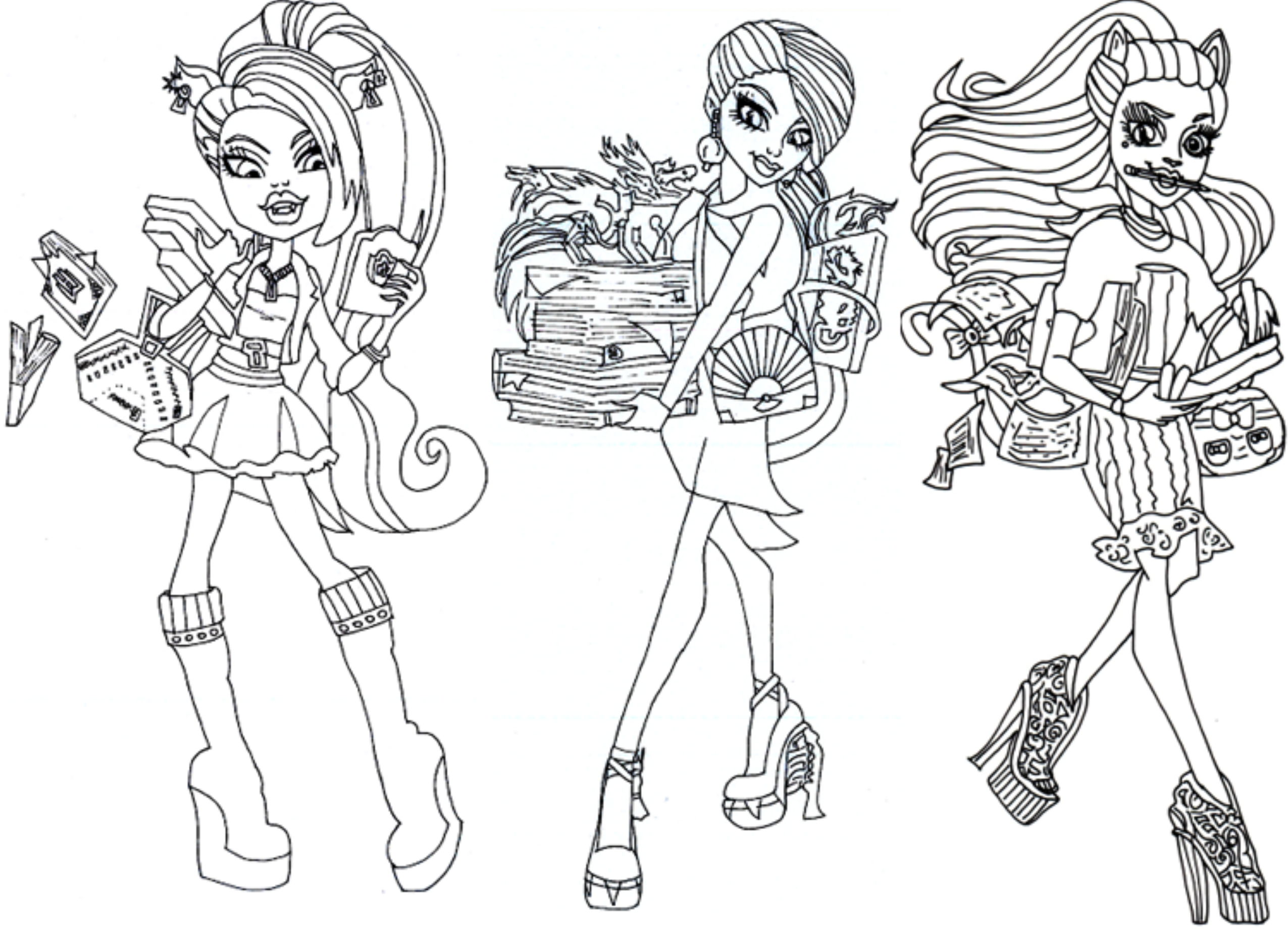 2551x1846 Monster High Coloring Pages The Sun Flower Pages