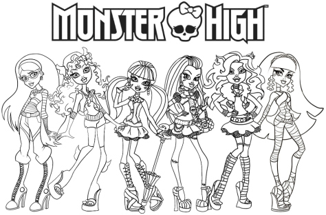 474x312 Monster High Printable Coloring Sheets Charming Monster High