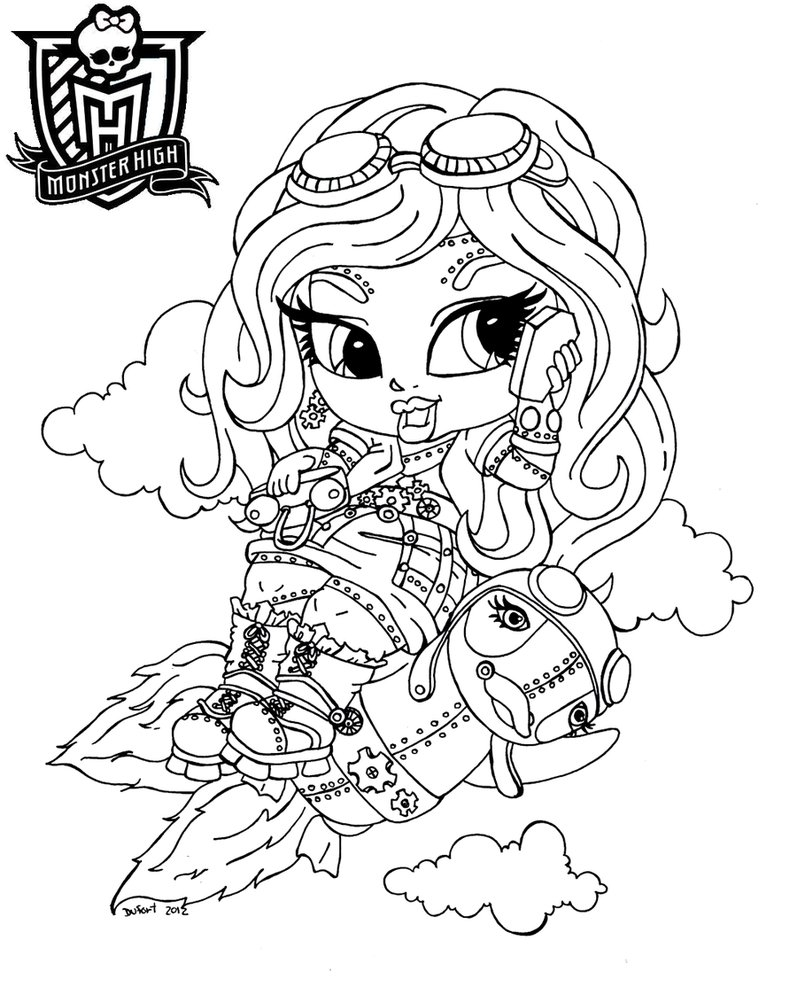 797x1002 Printable Elle Eedee Monster High Coloring Pages Free