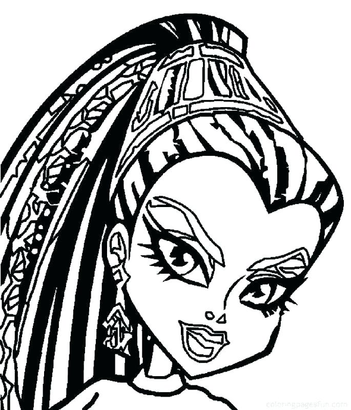 685x800 Printable Monster High Coloring Pages Free Monster High Coloring
