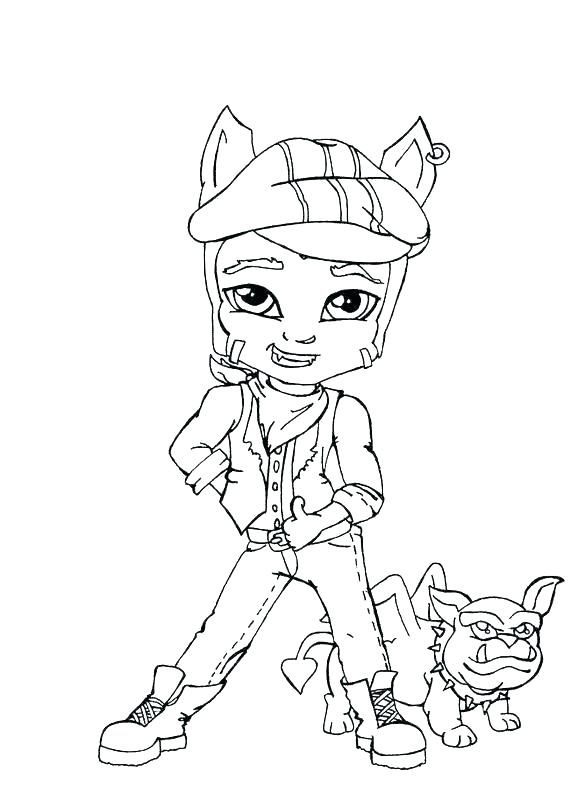 570x800 Monster High Coloring Pages Online