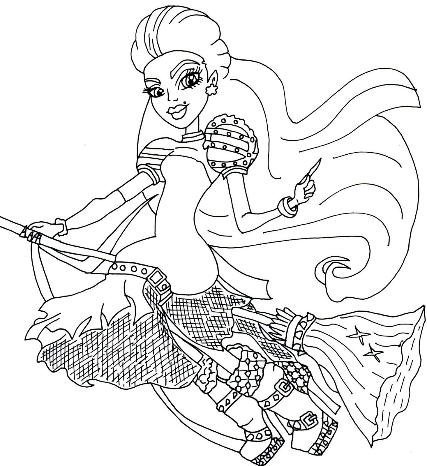 1466x1600 Free Printable Monster High Coloring Pages Casta Fierce Monster