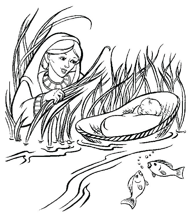 graphic about Baby Moses Printable referred to as Cost-free Printable Moses Coloring Web pages at
