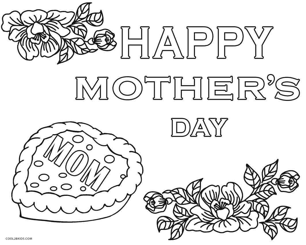 1063x850 Free Printable Mothers Day Coloring Pages For Kids