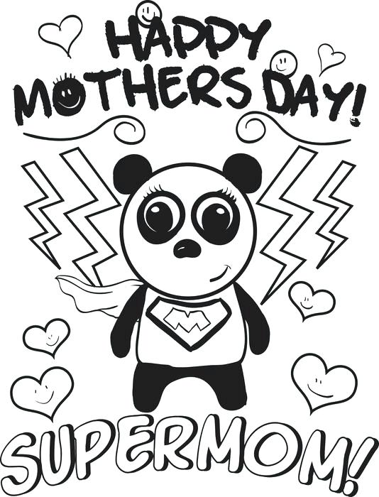 534x700 Free Printable Mothers Day Coloring Pages Supermom Mothers Day