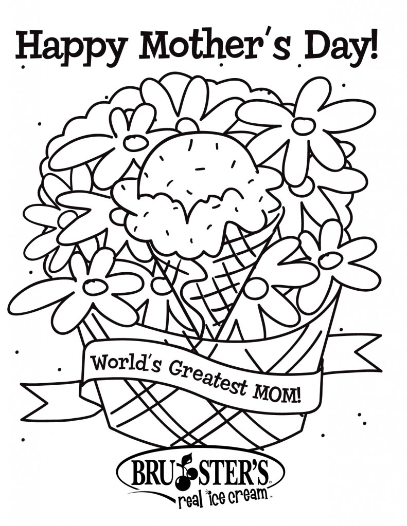 791x1024 Happy Mothers Day Coloring Page New Free Printable Mothers Day