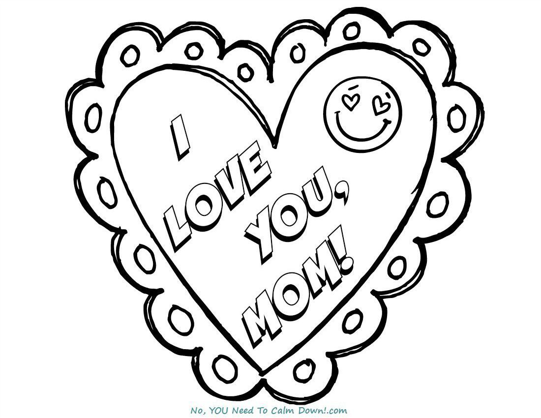 1100x850 I Love You, Mom Mother's Day Coloring Page