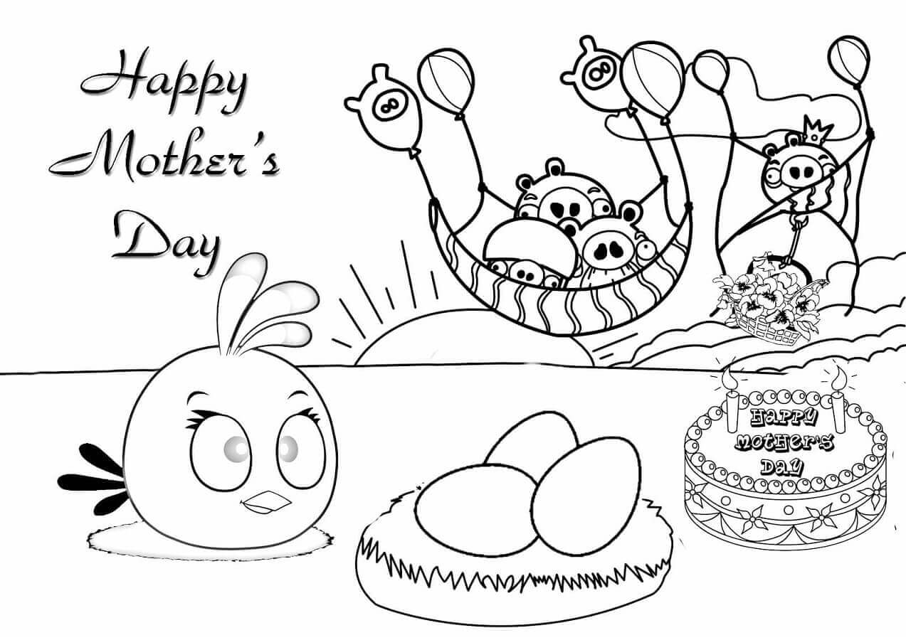 1273x900 Free Printable Mother's Day Coloring Pages