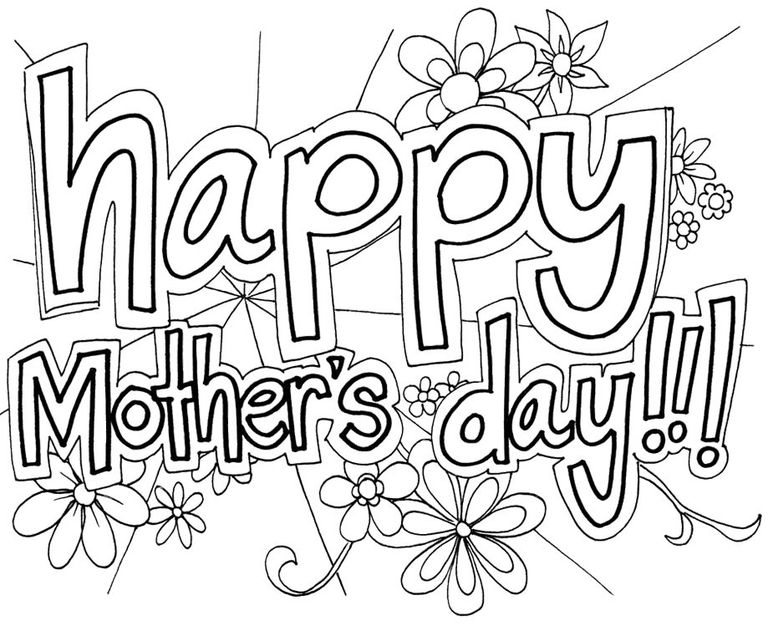 768x626 Mothers Day Coloring Sheets Free Printable Mothers Day