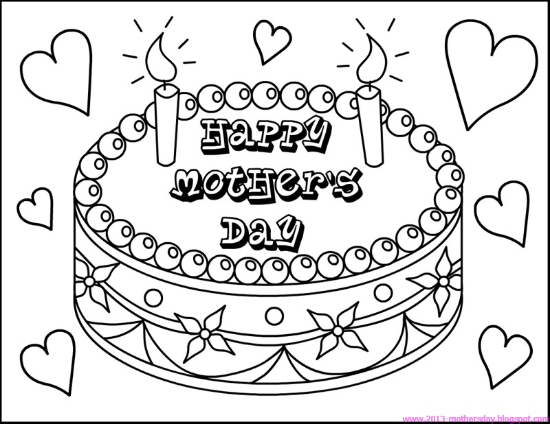 800x618 Best Mothers Day Coloring Pages Pictures Cards And Cakes Print