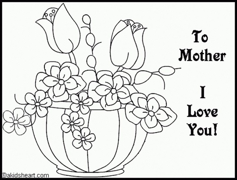 805x611 Coloring Christian Mothers Day Coloring Pages Free Printable