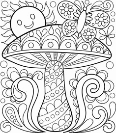 Free Printable Mushroom Coloring Pages