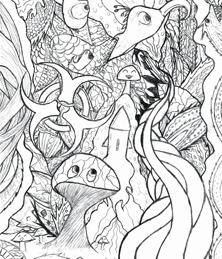 772x900 Free Printable Trippy Coloring Pages Photograph Trippy Mushroom