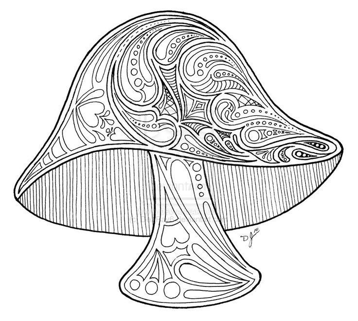 Two mushrooms coloring page for kids, printable free | 660x736