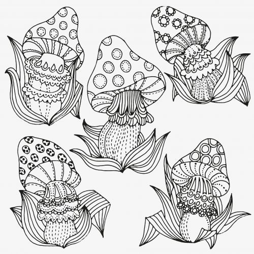 500x500 Trippy Mushroom Coloring Pages Beautiful Trippy Mushroom Coloring