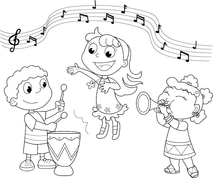 736x615 Musical Instrument Coloring Pages Musical Instruments Triangle Is