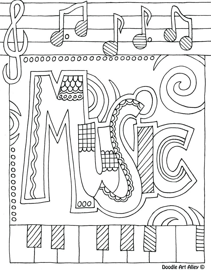 736x951 Ideas Free Music Coloring Pages Printable For Doodles Coloring